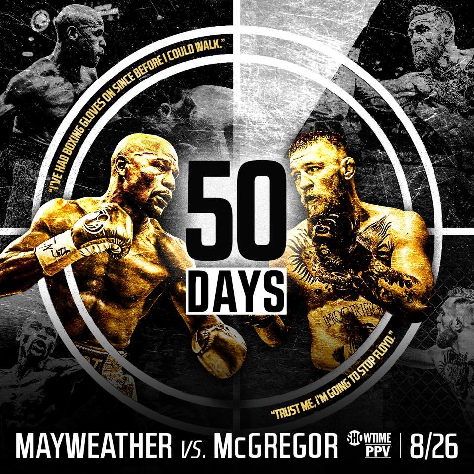 El primer cara a cara entre Mayweather y McGregor se lleva a cabo en Los Ángeles.