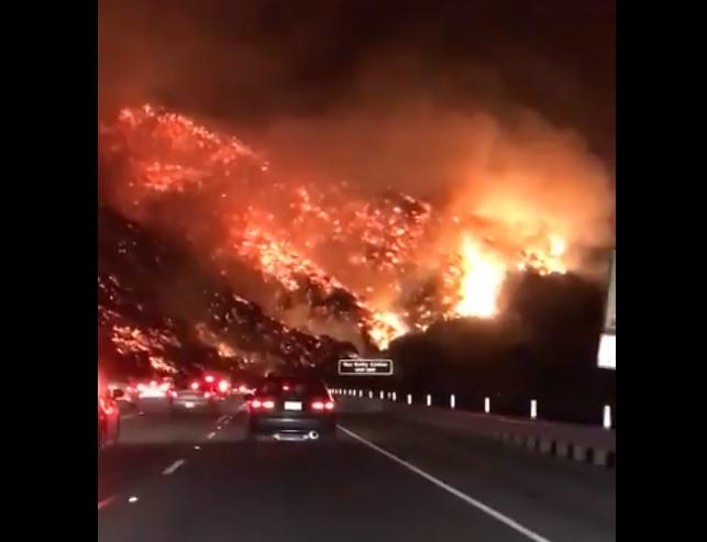 Incendios en California. Foto: Twitter / A. Mutzabaugh CMT