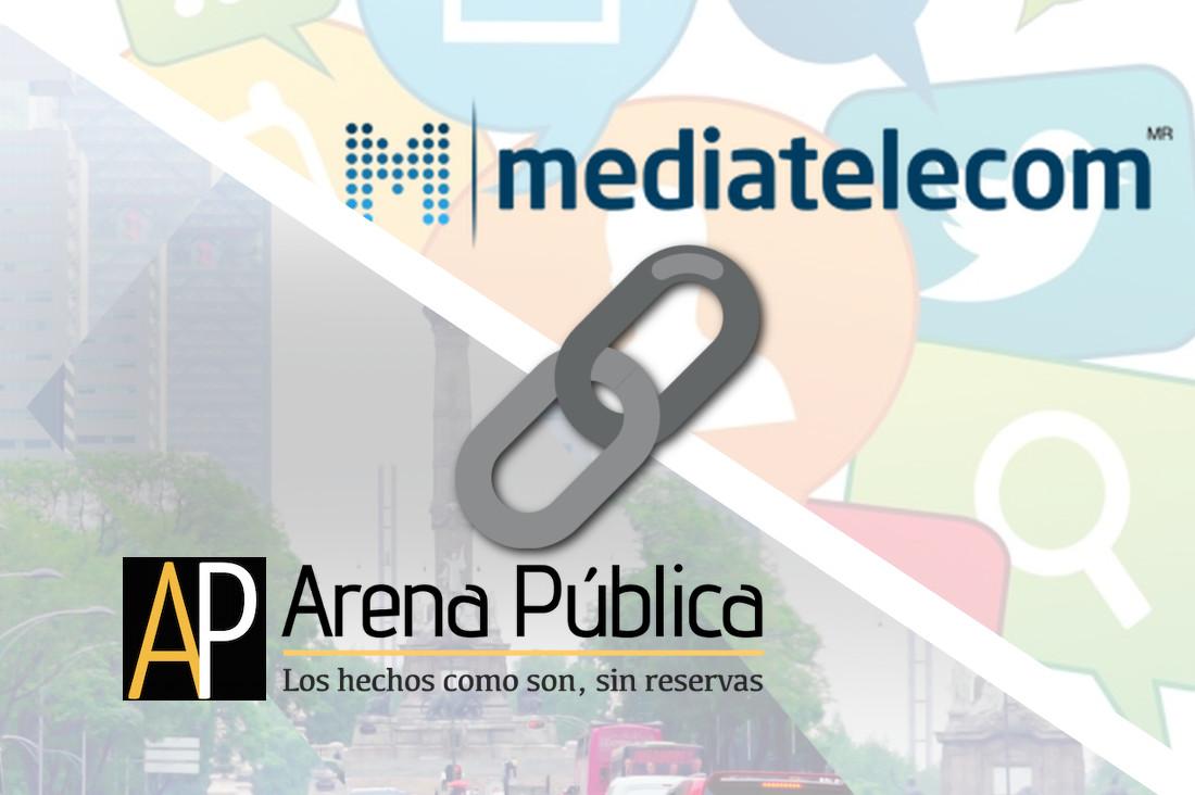 Firman alianza Mediatelecom y Arena Pública para ofrecer contenido especializado a mayores audiencias