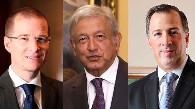 Como precandidatos únicos Anaya, López Obrador y Meade recorrieron toda la República.