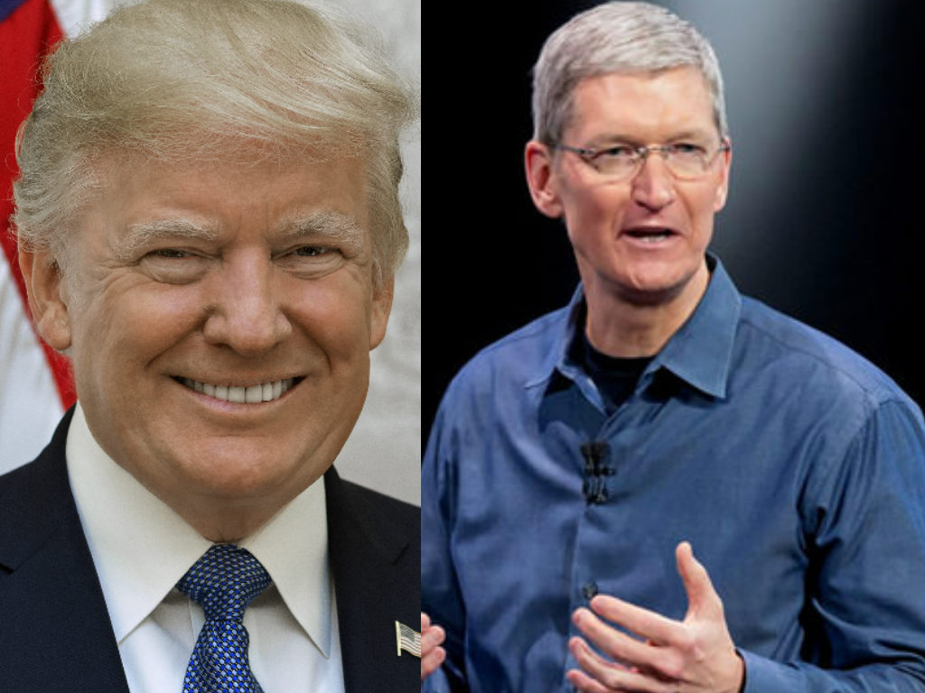 Foto: Donald Trump - Wikimedia Commons / Tim Cook - Flickr