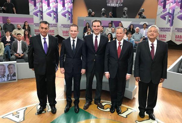 Comercio exterior, migración e inversión fueron los temas a tratar durante el segundo debate presidencial. Foto: INE