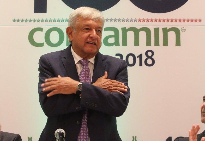 López Obrador se reúne con el presidente de Concamin.
