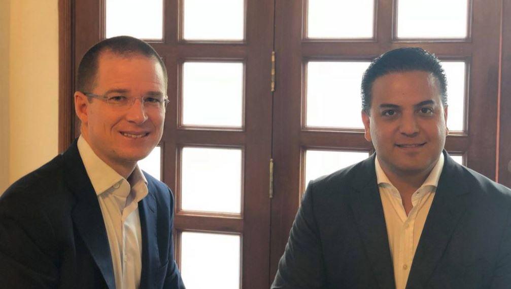 Anaya se reunió el seis de agosto con Damián Zepeda, actual presidente del PAN.