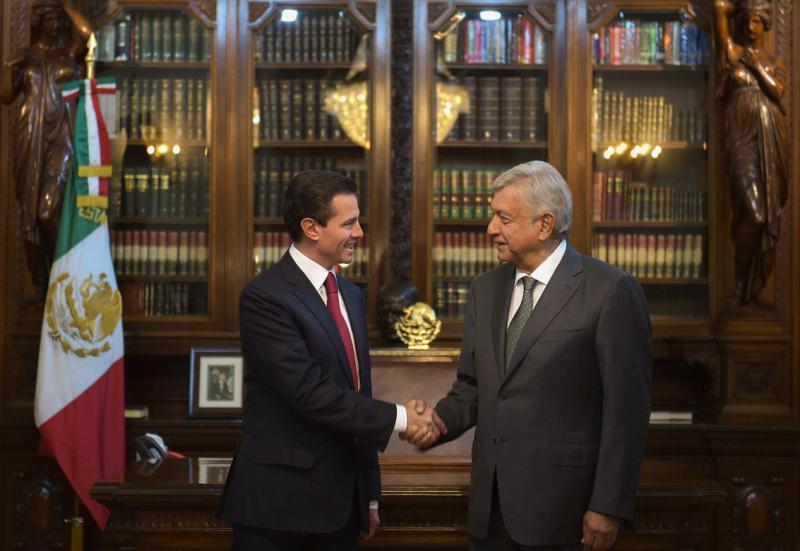 Reunión entre Enrique Peña Nieto y Andrés Manuel López Obrador el pasado 3 de julio Foto: Twitter Presidencia de México @PresidenciaMX