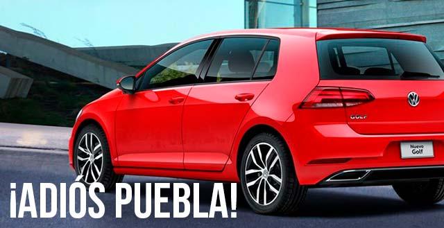 Sacará VW producción de Golf en sede Puebla