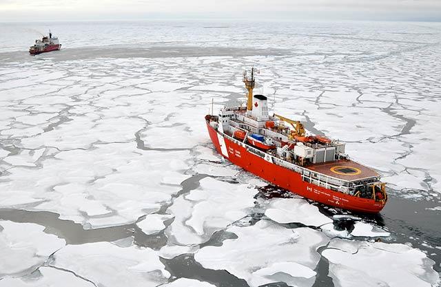 ¿El calentamiento global abrirá una nueva ruta comercial? (Servicio Geológico de EU)