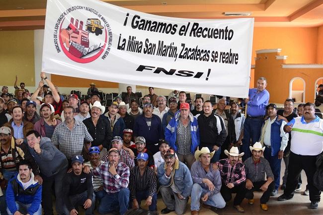 Agremiados al Sindicato de Exploración celebraron su triunfo en las elecciones de febrero de 2018.