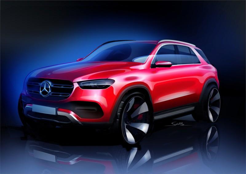 Boceto de nuevo Mercedes Benz GLE