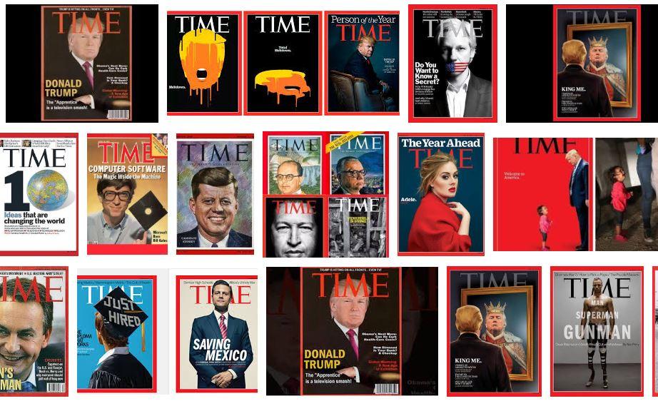 Portadas de la revista Time.