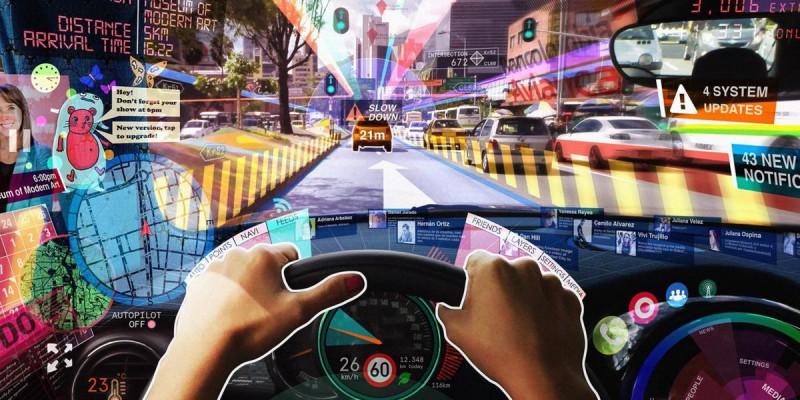 La realidad aumentada permitirá conectar a usuarios desde un carro a otro (Foto: Twitter@Mitenishio).