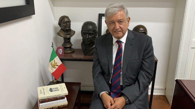 López Obrador en un mensaje sobre la decisión de cancelar el NAICM el 30 de octubre pasado (Foto: @lopezobrador.org.mx)