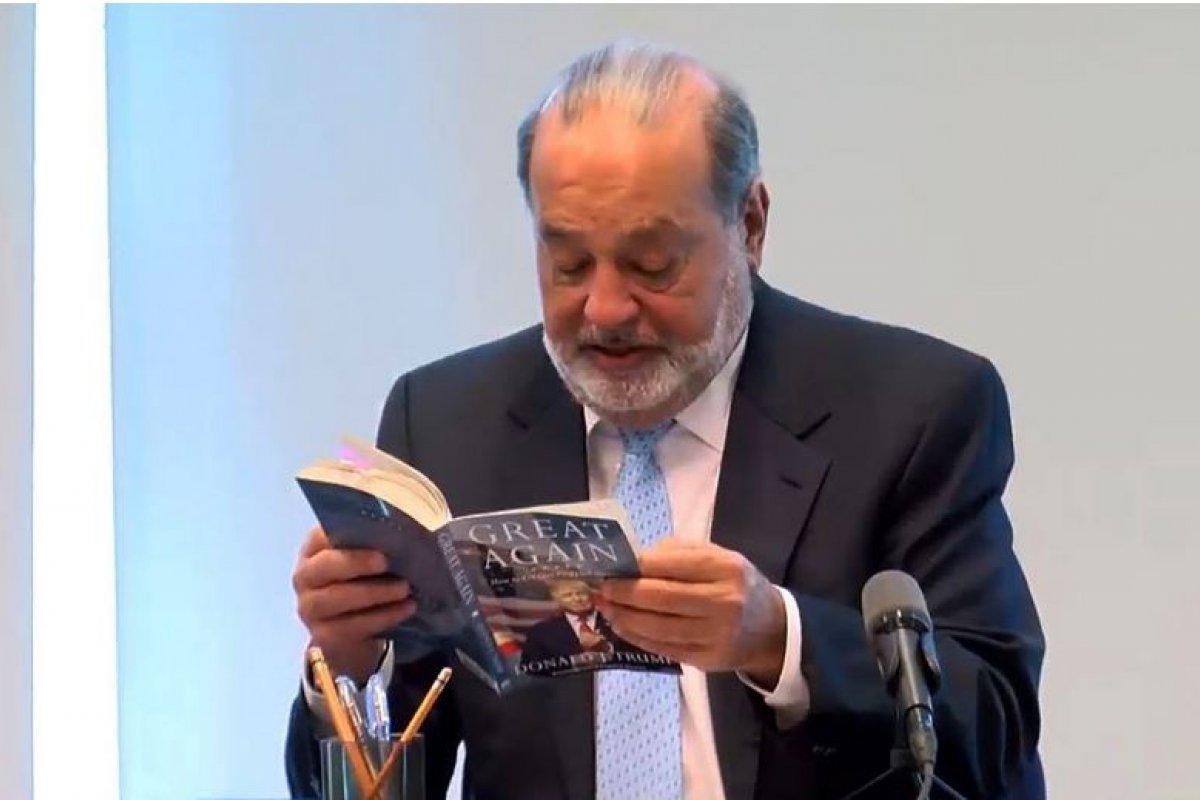 De forma inusual el hombre más rico de México hizo un espacio en su agenda para hablar públicamente sobre la próxima negociación comercial entre México y Estados Unidos.