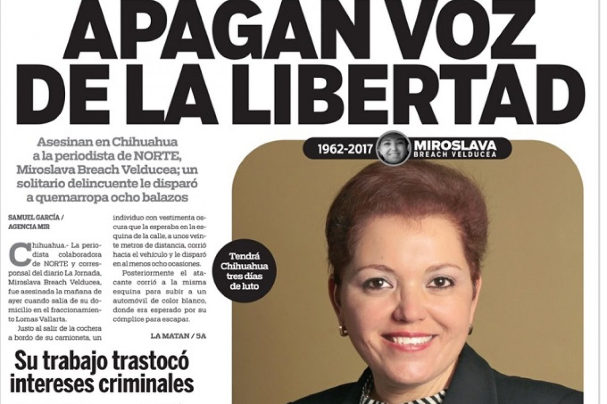 Antes de ser asesinada Miroslava Breach denunció el vínculo entre el crimen organizado y los partidos políticos PRI y PAN en Chihuahua.