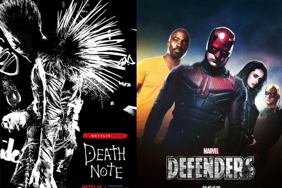 Entre los títulos más esperados están Death Note y The Defenders