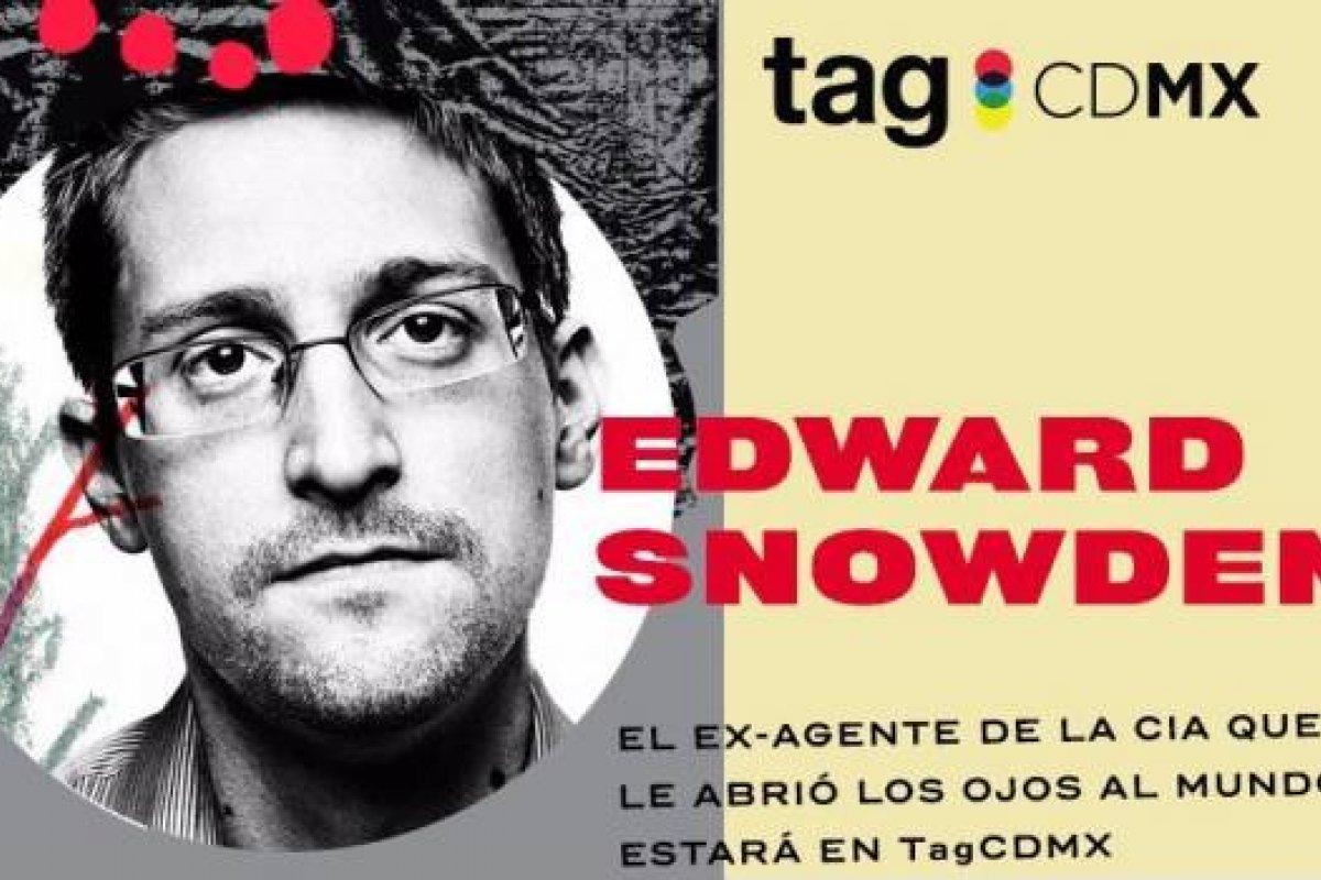 Edward Snowden dará conferencia en Tag CDMX