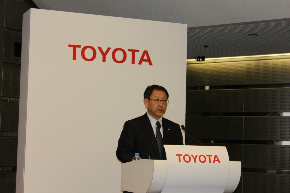Akio Toyoda presidente de Toyota Motor Corporation.