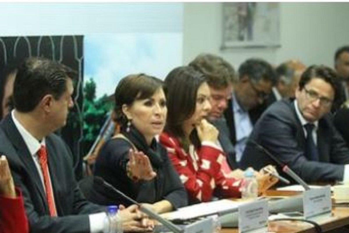 Rosario Robles, titular de la Sedatu durante la presentación del censo de viviendas dañadas.