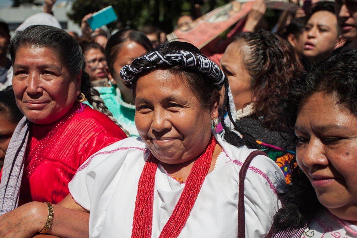 """""""La candidata indígena"""" mencionó que sí buscará el voto pero que ocupará el tiempo de proceso para desmantelar el sistema capitalista."""