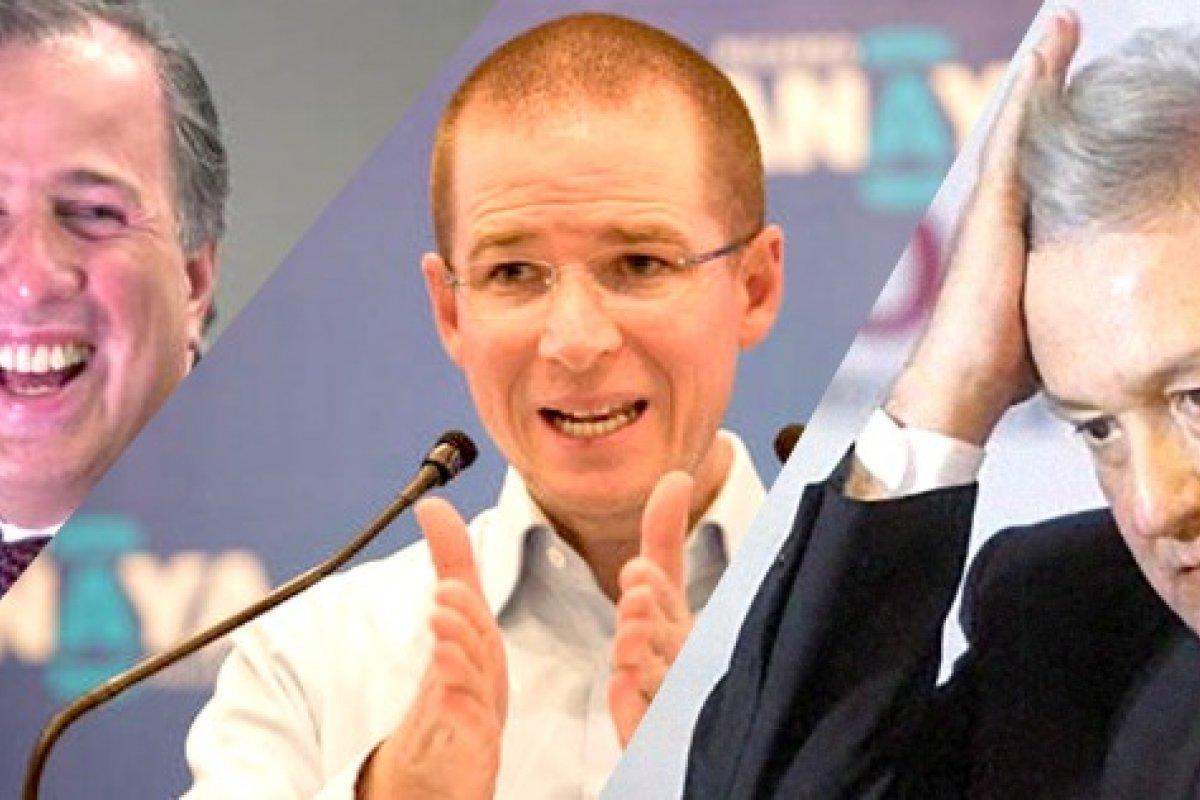Meade, Anaya y AMLO rumbo a las elecciones del 2018.
