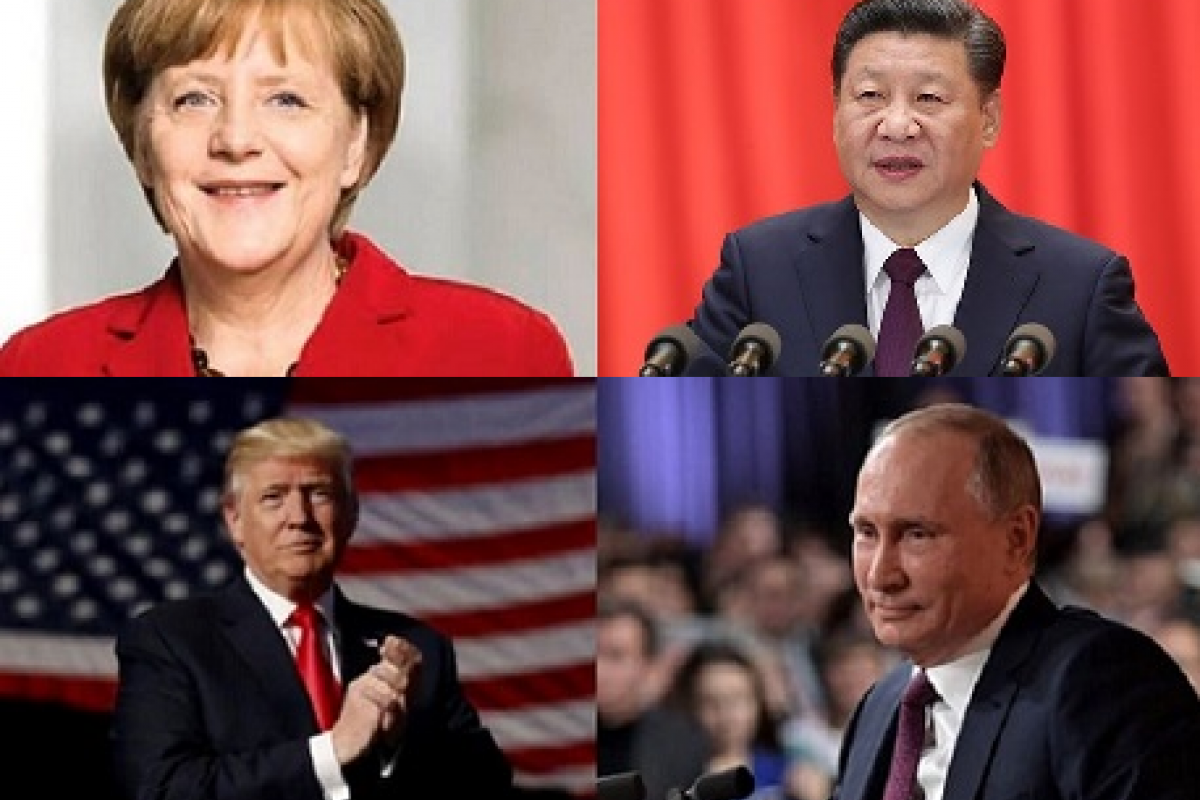 Angela Merkel, Xi Jingping, Donald Trump y Vladimir Putin, los cuatro líderes políticos más poderosos.