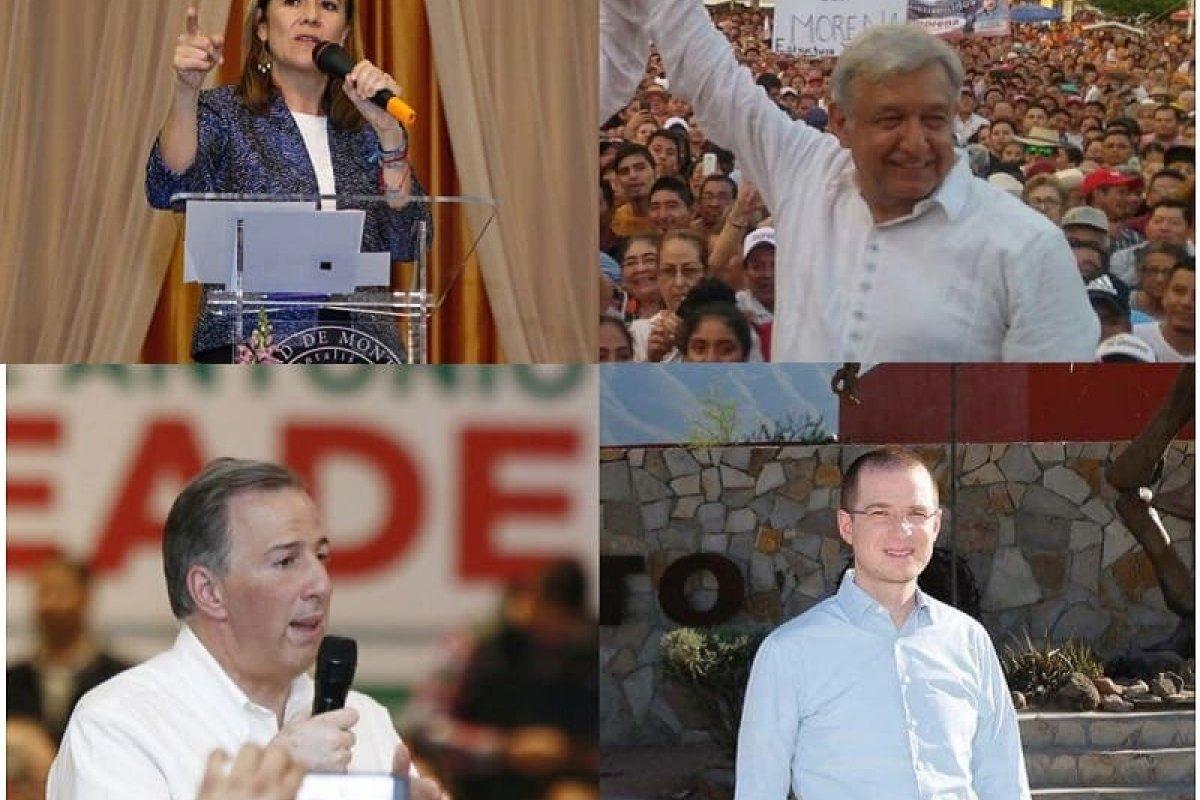 Margarita Zavala, López Obrador, Jose Antonio Meade y Ricardo Anaya, muy probablemente de alguno de ellos saldrá el próximo presidente del país.