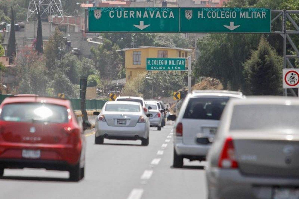 Carretera México Cuernavaca, peaje, autos, autopista