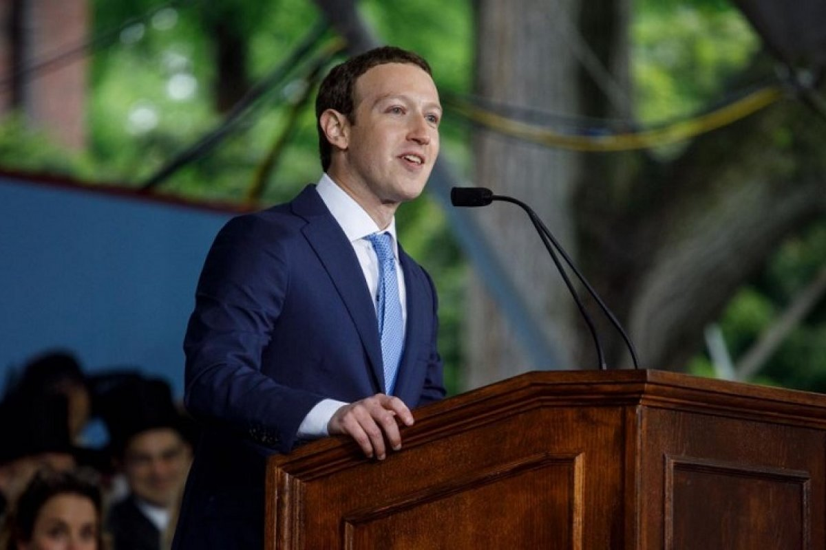 Mark Zuckerberg, dueño de Facebook en conferencia.