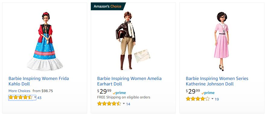 Venta de barbie Frida Kahlo por Amazon Estados Unidos